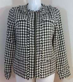 "NEW wTAGS ""FASHION BUG"" BLACK & WHITE JACKET - PLEASE SEE ALL PICTURES #FASHIONBUG #BasicJacket"