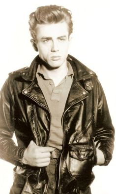 James Dean - teaching young folks how to rock a leather jacket!