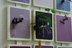 flower wall decals  お花の壁飾り&カリグラフィー