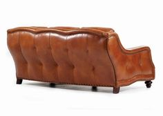 old hickory tannery red tufted-leather sofa & loveseat, classic, Attraktive mobel
