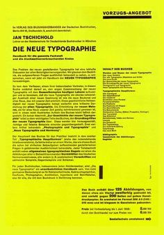 tschichold-02.jpg 612×876 pixels — Designspiration. This layout system would work well in a CV.