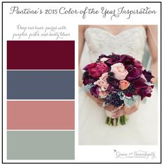 pantone color of the year 2015 - marsala - inspiration boards for wedding planning by grace and serendipity using maroon, slate, pink, green wedding