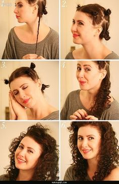 Curly hair no heat overnight - http://makeupq8.com/curly-hair-no-heat-overnight/