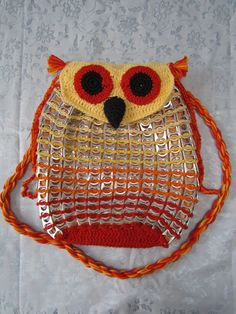 ao with <3 / bottle cap soda pop tabs crochet / Uiltjes tas