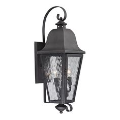 Forged Brookridge 3 Light Outdoor Sconce In Charcoal