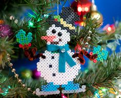 Holiday Pals Ornaments - Perler Project Pattern