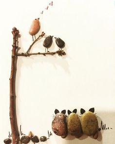 Birds singingCats listening  #rock #birds #cats #catsofinstagram…