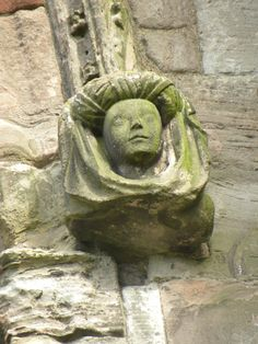 Melrose Abbey...notice the detail of the headdress