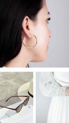 Solid gold earrings