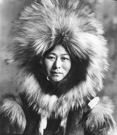 * Inuit woman, Nowadluk, in fur parka ~by Glenbowmuseum *
