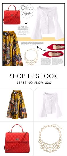 """""""Office Wear"""" by styledbytrell ❤ liked on Polyvore featuring Erdem and Anja"""