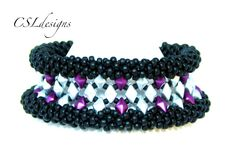 Diamond in the rough beaded kumihimo bracelet tutorial
