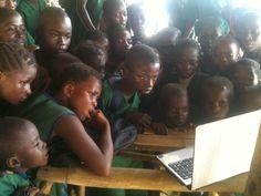 The Tribewanted beach school at John Obey, Sierra Leone