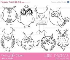 OFF SALE owl digital stamp commercial use, vector graphics, digital stamp, digital images - Pattern Coloring Pages, Colouring Pages, Coloring Books, Owl Doodle, Doodle Art, Embroidery Patterns, Machine Embroidery, Black And White Lines, Owl Art