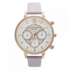 Olivia Burton Chrono Detail Rose Gold Watch Lilac