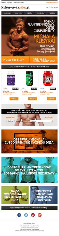 Newsletter kontentowy przygotowany dla kulturystyka.sklep.pl / https://panel.sendingo.pl/kampania/9cw / #email #newsletter #templates