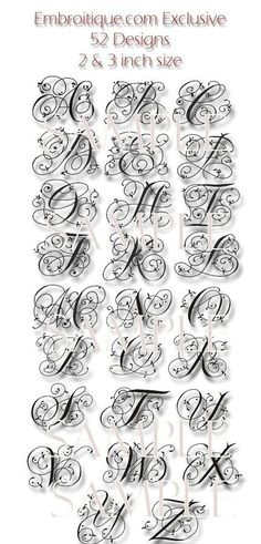 Maisie Monogram Font Set - and Machine Embroidery Font Alphabet Letters - Instant Email Del Fonte Alphabet, Design Alphabet, Alphabet Letters, Script Alphabet, Fancy Lettering Alphabet, Embroidery Monogram, Embroidery Fonts, Machine Embroidery Designs, Embroidery Ideas