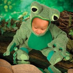 ## VERY Cute ##: Striped Frog Toddler Costume