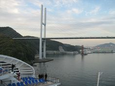 Diamond Princess: leaving Nagasaki (april 2013)