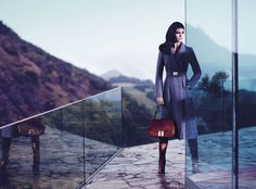 Hilary Rhoda is Pure Elegance for Hugo Boss Blacks Fall 2012 Campaign by Mario Sorrenti