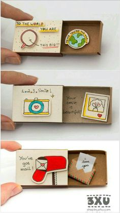Diy Discover Diy Gifts For Friends Bf Gifts Diy Gifts For Friends Friend Birthday Gifts Diy Gifts For Boyfriend Diy Birthday Best Friend Gifts Cute Gifts Creative Birthday Cards Boyfriend Anniversary Gifts Diy Gifts For Friends, Diy Crafts For Gifts, Bff Gifts, Creative Gifts For Boyfriend, Cute Boyfriend Gifts, Matchbox Crafts, Birthday Cards, Birthday Diy, Birthday Presents