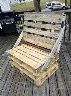 Homemade Pallet Chair.