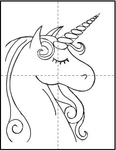 How To Enlarge Traceables For Transferring - Step By Step Painting Unicorn Painting, Unicorn Drawing, Unicorn Art, Paint And Sip, Canvas Painting Tutorials, Painting Patterns, Kids Art Class, Art For Kids, Kids Canvas Art