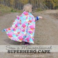 Sew a Monogrammed Superhero Cape