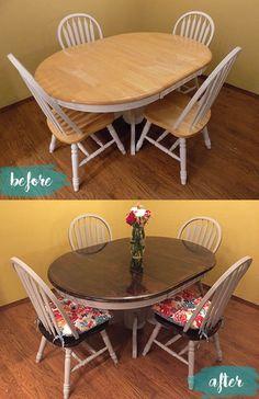 DIY Semi-Farmhouse Kitchen Table -- balancingalex.com
