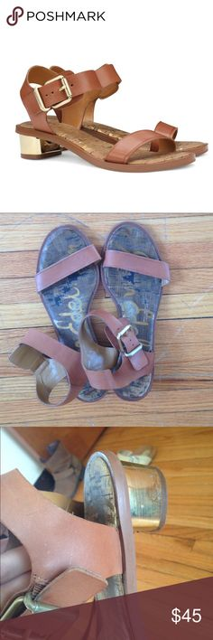 Sam Edelman Trina tan leather buckle sandals Gorgeous Sam Edelman Trina tan leather buckle sandals. Super comfortable and go with everything. Great condition, only signs of wear on heels and soles (as seen in pics) but unnoticeable when worn. Fit true to size. Sam Edelman Shoes Sandals