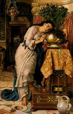 Famous Pre-Raphaelite Paintings - Isabella and The Pot of Basil