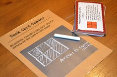 "Using the chalkboard ""rage"" in centers. Literacy & Math Ideas"