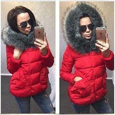 5eb920c505a Elegantní dámská zimní bunda s mohutnou kapucí.