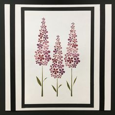 Created by Tracy Nutton using Sweet Poppy Stencils 'Delphinium' stencil, pearlescent paste and Versamagic chalk inks.