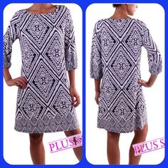 Plus size dresses Plus size Print dress 95%polyester 5%rayon - Price is firm Dresses