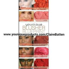 Can't decide which shade to choose? I have it covered with this colour chart and with our 14 day love it policy you can return if it's not right for you. www.youniqueproducts.com/ClaireBatten #blusher #beauty #cosmetics #younique #rosey #roseycheeks #blushers