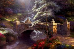 Bridge of hope by Thomas Kinkade - RIP
