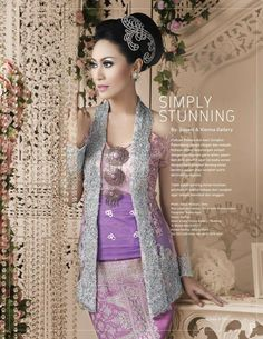 Simply Stunning Kebaya combined with Palembang Songket. So elegant and luxurious :)