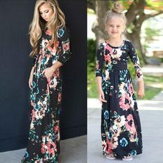 Mother daughter matching summer dresses – Fabulous Bargains Galore Mommy And Me Dresses, Mommy And Me Outfits, Little Girl Dresses, Girl Outfits, Girls Dresses, Summer Dresses, Maxi Dresses, Party Dresses, Dress Outfits