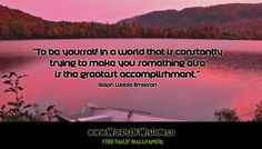 Emerson quote on the difficulty of being yourselfEvolution Ezine