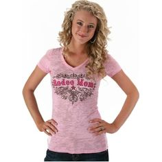 Cowgirl Justice Pink Rodeo Mom Tee