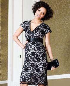 Grace Lace Maternity Dress (Black)