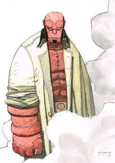 Hellboy by Gabriel Hernandez Walta