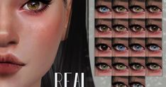 REAL EYES     Default replacements  (new) , Genetic Non-Defaultsor Contacts (Face Paint)  22 colours    Removed specular  Handpainte... Sims 4 Cas, Sims Cc, Sims 4 Cc Eyes, Sims 4 Clothing, Ts4 Cc, Eye Color, Facial, Colours, Hair