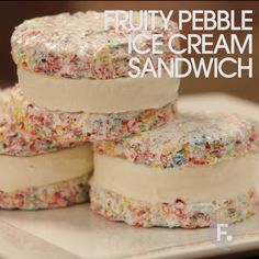 Fruity Pebble Ice Cream Sandwich