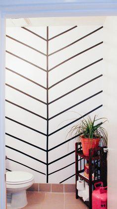 DIY washi tape wall