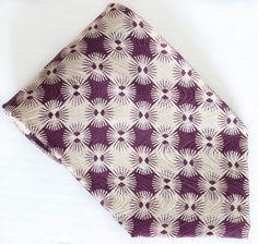 Giorgio Armani 100% Silk Tie Necktie Cravatte Art Deco Psychedelic Diamonds NWOT #GiorgioArmani #NeckTie