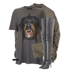 A fashion look from June 2016 featuring Givenchy t-shirts and Tamara Mellon boots. Browse and shop related looks. Fashion Killa, Look Fashion, Autumn Fashion, Fashion Outfits, Womens Fashion, Stylish Outfits, Fall Outfits, Outing Outfit, Look Girl