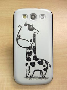 Samsung galaxy s3 case lovely Giraffe Hard by AliceStudioHK, $11.99. This is adorable.