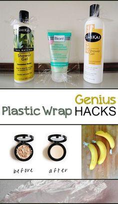 New kitchen hacks organization diy plastic wrap 51 ideas Kitchen Hacks, Diy Kitchen, Hacks Diy, Cleaning Hacks, Limpieza Natural, Packing Tips For Travel, Travel Hacks, Plastic Wrap, Organization Hacks